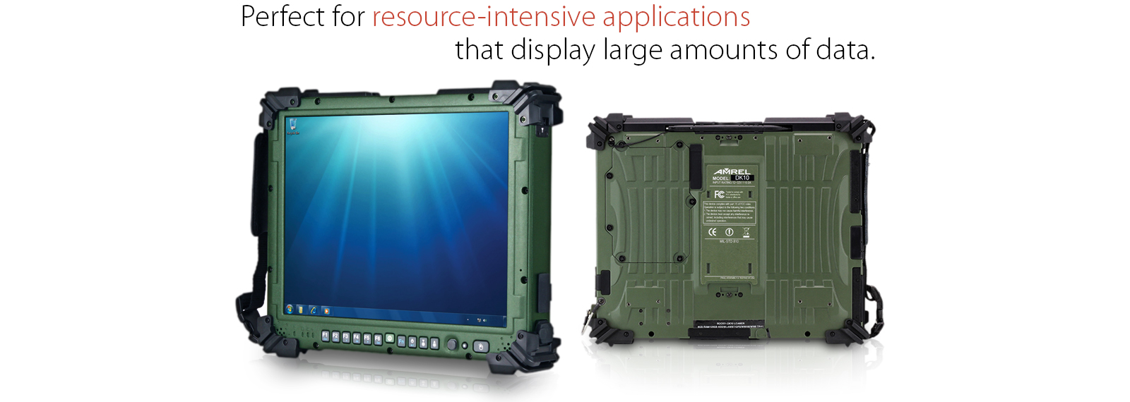 Military grade fully rugged tablet