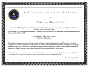 Official FAP 45 Certificate