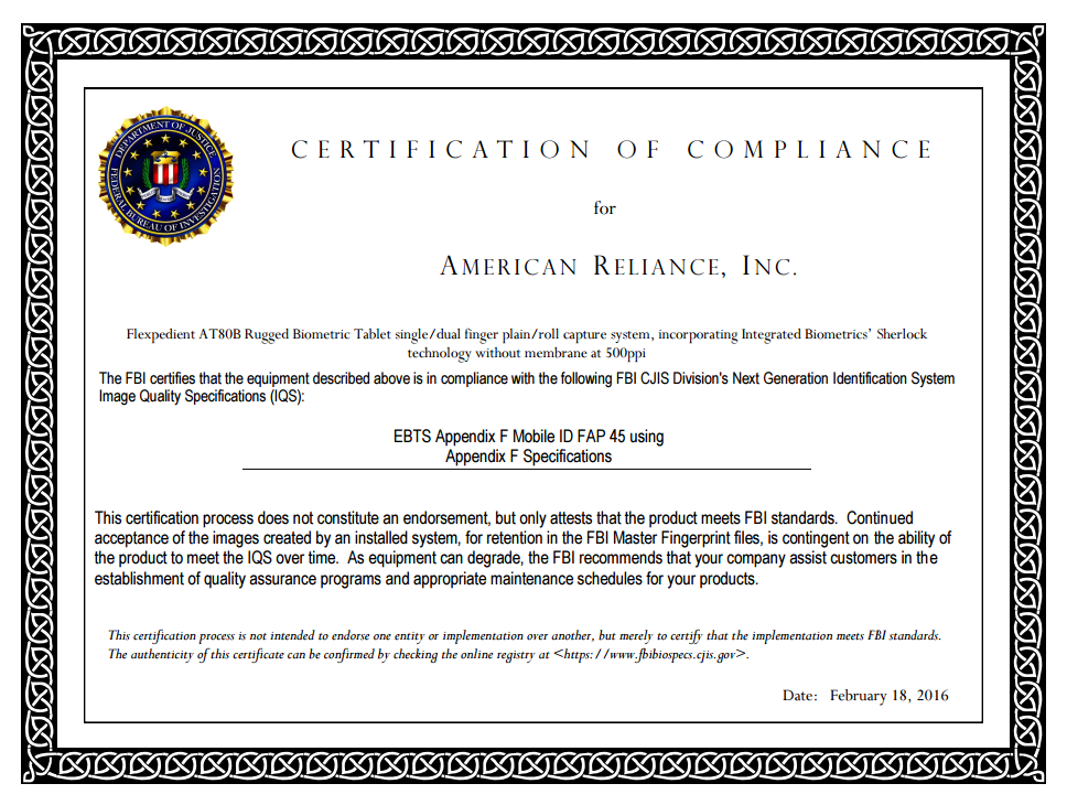 AT80B-FBI-FAP-45-Cert-2016 - computers.AMREL.com